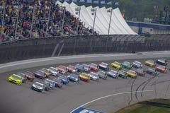 NASCAR :6月10日FireKeepers赌博娱乐场400 免版税库存照片