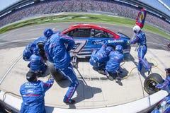 NASCAR :4月09日O ` Reilly汽车零件500 免版税库存照片