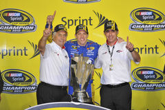 NASCAR : ECOBOOST 11月18日福特400 免版税库存照片