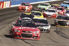 NASCAR :3月22日汽车俱乐部400 免版税图库摄影