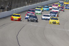 NASCAR 2013年:Sprint杯系列纯净的密执安8月400 18日 免版税库存照片