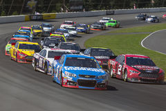 NASCAR 2013年:Sprint杯系列GoBowling.com 8月400 04日 库存照片