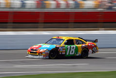 NASCAR 08 - Leader Kyle Busch. Kyle Busch's #18 M&Ms Toyota Car of Tomorrow practices before the 2008 Coca Cola 600 at Lowes Motor Speedway Stock Photography