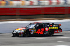 NASCAR 08 - Montoya's a blur!. Juan Pablo Montoya's #42 Texaco Havoline Dodge Car of Tomorrow turns laps before the 2008 Coca Cola 600 at Lowes Motor Speedway stock image