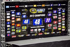NASCAR: 17. Mai-Gruben-Besatzung-Herausforderung lizenzfreies stockfoto