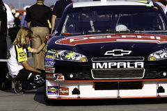 NASCAR - 2010 All Star Race - CHecking the tires Stock Photo