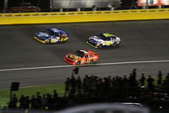 NASCAR 2010 All-Star Race Leaders Entering Turn 3 royalty free stock photo