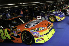 NASCAR - 2010 All Stars in the garage Stock Images