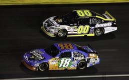 NASCAR - 2010 Alle Sterren Busch en Reutimann Stock Afbeeldingen