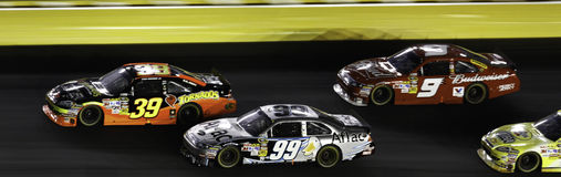 NASCAR - 2010 Alle Sterren Newman, Edwards en Kahne Stock Afbeeldingen