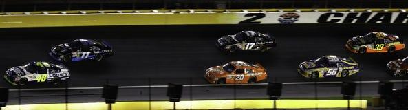NASCAR - 2010 toutes les étoiles ont empilé vers le haut à leur tour de 2 Photos libres de droits