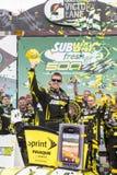 NASCAR 2013:  Sprint Cup Series Subway Fresh Fit 500 MAR 03. AVONDALE, AZ - MAR 03, 2013:  Carl Edwards (99) ends his losing streak by winning the  Subway Fresh Stock Image