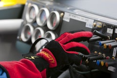 NASCAR: 27 september Amerikaanse club van automobilisten 400 Stock Afbeeldingen