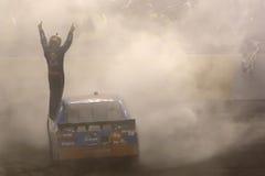 NASCAR: 30. April Kyle Busch (18) Lizenzfreie Stockbilder