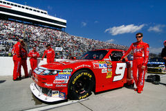 NASCAR - #9 Kahne's Budweiser Car on Pit Road Royalty Free Stock Photography