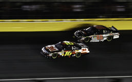 NASCAR - All Stars Biffle, Earnhardt Jr Stock Photo