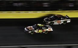 NASCAR - Alle Sterren Biffle, Earnhardt Jr Stock Foto