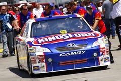 NASCAR - Ambroses Auto vorangegangen zur Kontrolle stockfoto