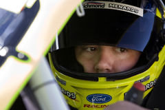 NASCAR:  April 09 Bashas Supermarkets 200. AVONDALE, AZ - Apr 09:  Paul Menard sits in the No. 98 Richmond Water Heaters/Menards Ford before practicing for the Stock Image