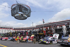 NASCAR: April 21 Food City 500. April 21, 2017 - Bristol, Tennessee , USA: The Monster Energy NASCAR Cup Series teams take to the track a practice session for Royalty Free Stock Photos