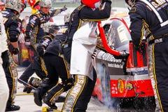NASCAR - Arrêt de mine de Ryan Newman Photographie stock libre de droits