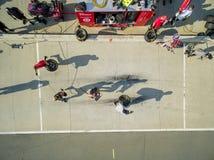 NASCAR:  Aug 04 Pit Practice Royalty Free Stock Photo