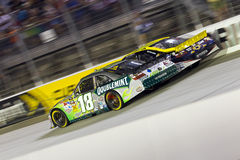 NASCAR:  Aug 21 Irwin Tools Night Race. Bristol, TN - AUG 21, 2010:  Kyle Busch makes history winning all three races in a single weekend, winning the Irwin Royalty Free Stock Photography