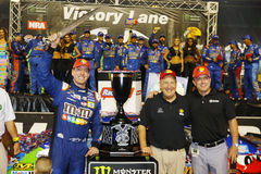 NASCAR: Am 19. August Bass Pro Shops NRA-Nachtrennen Stockbild