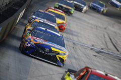NASCAR: August 19 Bass Pro Shops NRA Night Race. August 19, 2017 - Bristol, Tennessee, USA: Kyle Busch 18 brings his race car down the front stretch during the stock photo