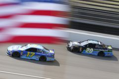 NASCAR: August 12 Consumers Energy 400. August 12, 2018 - Brooklyn, Michigan, USA: Ricky Stenhouse, Jr 17 brings his race car down the front stretch during the royalty free stock photography