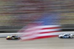 NASCAR: August 12 Consumers Energy 400. August 12, 2018 - Brooklyn, Michigan, USA: Martin Truex, Jr 78 brings his race car down the front stretch during the royalty free stock photo