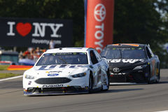 NASCAR: August 06 I LOVE NY 355. August 06, 2017 - Watkins Glen, New York, USA: Brad Keselowski 2 brings his car through the turn during the I LOVE NY 355 at royalty free stock photography