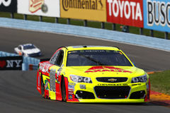 NASCAR: August 06 I LOVE NY 355. August 06, 2017 - Watkins Glen, New York, USA: Dale Earnhardt Jr. 88 battles for position during the I LOVE NY 355 at Watkins royalty free stock photos