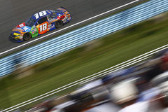 NASCAR: August 06 I LOVE NY 355. August 06, 2017 - Watkins Glen, New York, USA: Kyle Busch 18 brings his car down the frontstretch during the I LOVE NY 355 at stock image
