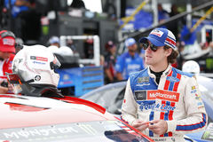 NASCAR: August 06 I LOVE NY 355. August 06, 2017 - Watkins Glen, New York, USA: Ryan Blaney 21 hangs out on pit road prior to qualifying for the I LOVE NY 355 at royalty free stock photography