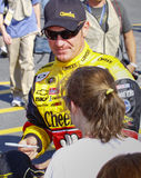 NASCAR - Autographs van de Tekens van Clint Bowyer stock foto's