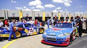 NASCAR - Besetztes Garage-Bereichs-vor Rennen stockfoto
