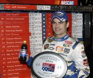 NASCAR bestuurder Jeff Gordon stock fotografie