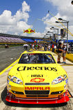 NASCAR - Bowyer's #33 Cheerios Car in Pit Road royalty free stock photos