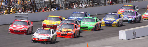 NASCAR Brickyard 400 2010 Re-Start IMS Indiana Royalty Free Stock Image