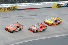 Nascar from Bristol Tn. Three of NASCARS best at bristol Tn on march 16th 2008 Royalty Free Stock Photography