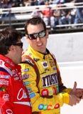 NASCAR - Busch comunica con Stewart Fotografia Stock Libera da Diritti