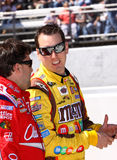 NASCAR - Busch talks to Stewart Royalty Free Stock Photo