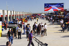 NASCAR - Busy Garage Area in Charlotte Royalty Free Stock Images
