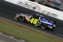 NASCAR Car of Tomorrow. Jimmie Johnson drives the new Car of Tomorrow during the first race of the 2007 Chase for the NASCAR Nextel Cup at New Hampshire Royalty Free Stock Image