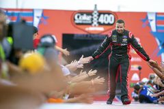 NASCAR: Casco do 7 de julho zero açúcares 400 Foto de Stock Royalty Free