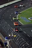NASCAR - Caution Flag is Out Royalty Free Stock Photo