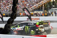 NASCAR : Championnat global du 14 juillet Rallycross Photos stock