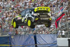 NASCAR : Championnat global du 14 juillet Rallycross Photo stock