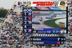 NASCAR-chaufför Denny Hamliin Royaltyfri Bild